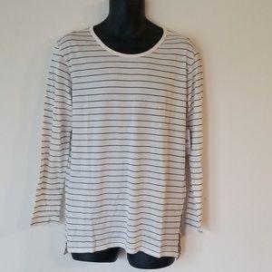 Striped long sleeved tee